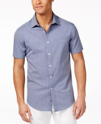 Vince Camuto Men's Dobby Chambray Shirt