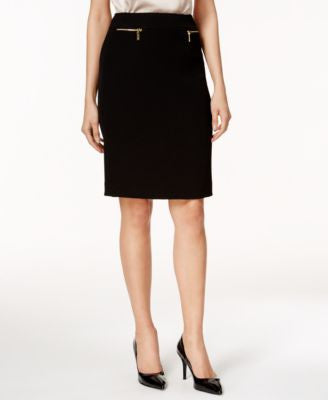 Tahari ASL Zip-Pocket Pencil Skirt