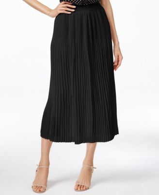 NY Collection Crinkled Midi Skirt