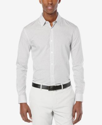 Perry Ellis Men's Geo-Print Long-Sleeve Shirt