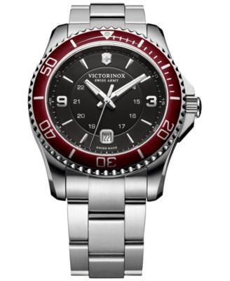 Victorinox Swiss Army Men's Swiss Maverick Stainless Steel Bracelet Watch 43mm 249108