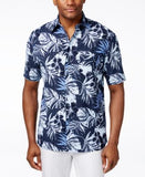 Tasso Elba Men's Floral-Print Short-Sleeve Shirt, Only at Vogily