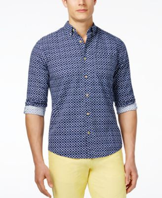 Tommy Hilfiger Men's Milos Seersucker Print Long-Sleeve Shirt