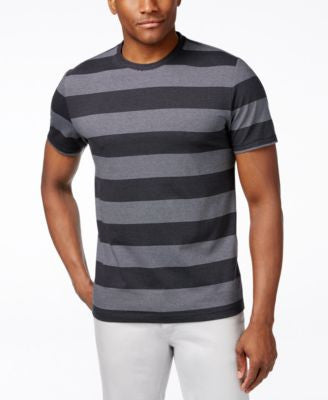 Alfani Men's Heather Wide Stripe T-Shirt, Only at Vogily