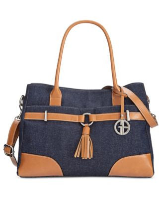 Giani Bernini Denim Satchel, Only at Vogily