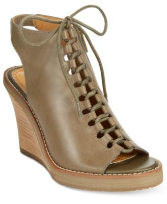 Kenneth Cole Reaction Knot 2 Night Lace-Up Wedge Sandals