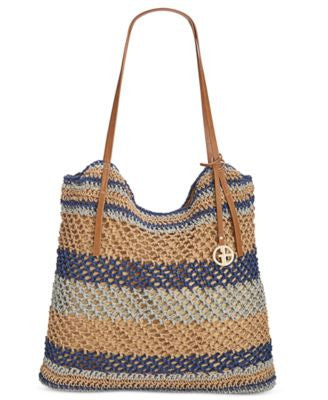 Giani Bernini Striped Woven Tote, Only at Vogily