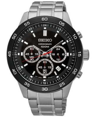 Seiko Men's Chronograph Special Value Stainless Steel Bracelet Watch 44mm SKS527