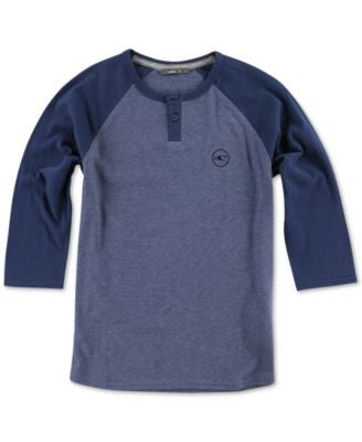 O'Neill Men's The Bay Raglan-Sleeve Henley Shirt