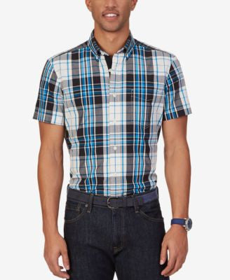 Nautica Men's True Plaid Short-Sleeve Shirt