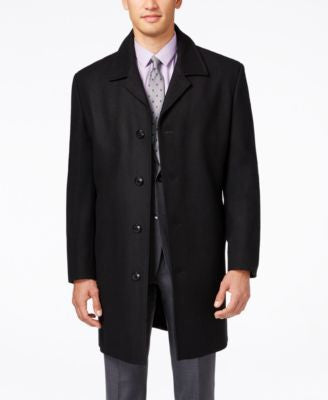 London Fog Coventry Solid Wool-Blend Overcoat