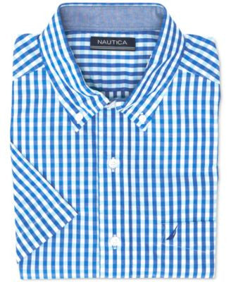 Nautica Men's Gingham Short-Sleeve Shirt