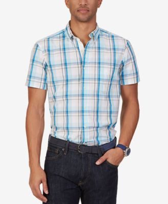 Nautica Men's Byron Plaid Short-Sleeve Shirt