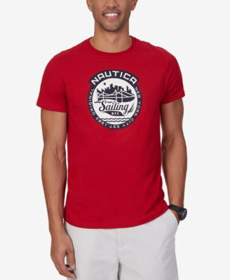 Nautica Men's Big & Tall Sail Graphic-Print Logo T-Shirt