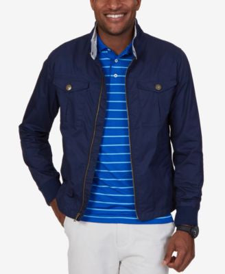 Nautica Men's Jetsetter Full-Zip Stand-Collar Bomber