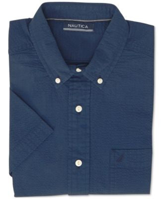Nautica Men's Seersucker Short-Sleeve Shirt