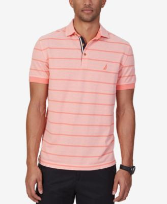 Nautica Men's Stripe Oxford Polo
