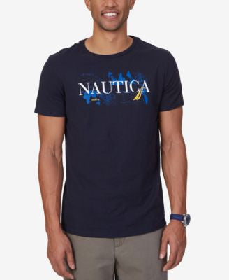 Nautica Men's Big & Tall Signature Graphic-Print Logo T-Shirt