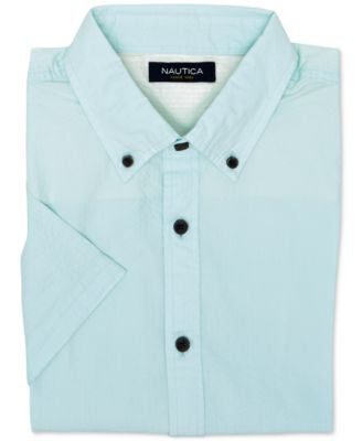Nautica Men's Slim-Fit Seersucker Short-Sleeve Shirt