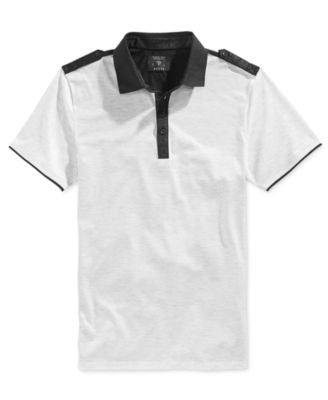 GUESS Men's Heather Mason Polo Shirt