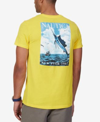Nautica Men's Big & Tall Swordfish Graphic-Print T-Shirt