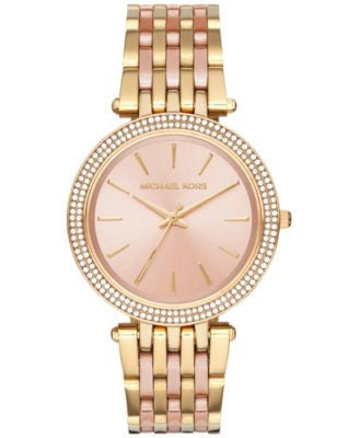 Michael Kors Women's Darci Two-Tone Stainless Steel Bracelet Watch 39mm MK3507
