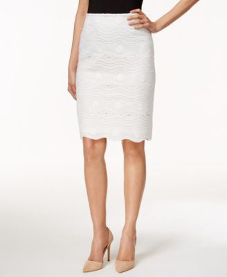 Tahari ASL Petite Lace Pencil Skirt