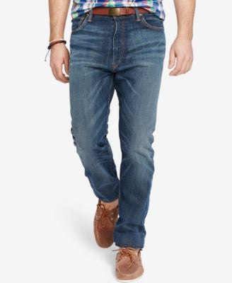 Polo Ralph Lauren Men's Big & Tall Hampton Straight-Fit Davis-Wash Stretch Jeans