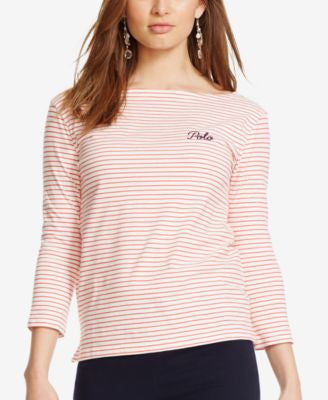Polo Ralph Lauren Striped Boat-Neck T-Shirt