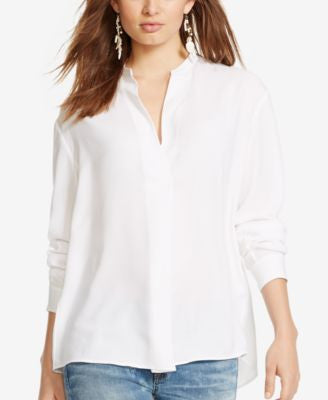 Polo Ralph Lauren Twill Split-Neck Top