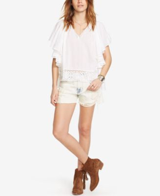 Denim & Supply Ralph Lauren Antigua Lace Beach Top