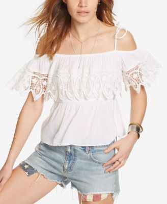 Denim & Supply Ralph Lauren Lace-Trim Blouse