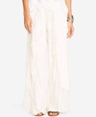 Denim & Supply Ralph Lauren Fringe Wide-Leg Pants