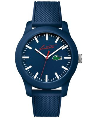Lacoste Men's 12.12 Blue Silicone Strap Watch 43mm 2010860