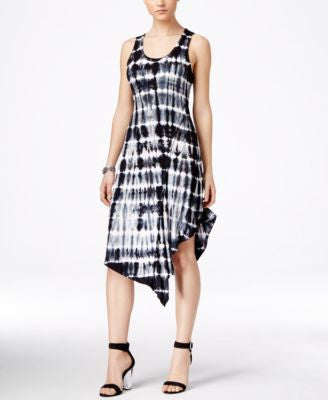 Karen Kane Sleeveless Printed Asymmetrical-Hem Dress, Only at Vogily