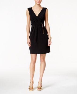 Thalia Sodi Belted Fit & Flare Dress, Only at Vogily
