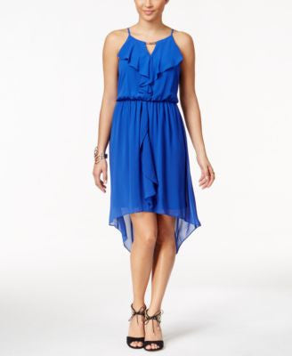 Thalia Sodi Ruffled High-Low Dress, Only at Vogily
