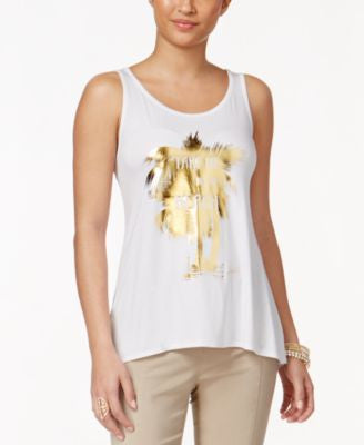 Thalia Sodi Beach Graphic Tank Top, Only at Vogily