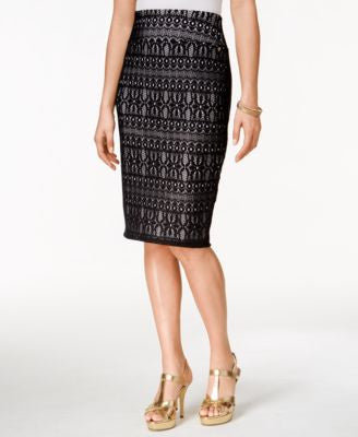 Thalia Sodi Lace-Crochet Pencil Skirt, Only at Vogily