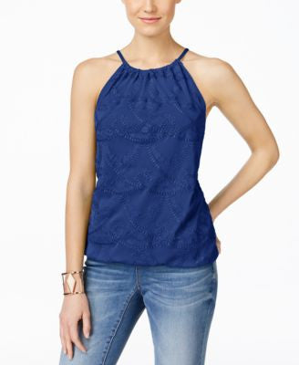 INC International Concepts Embroidered Halter Top, Only at Vogily