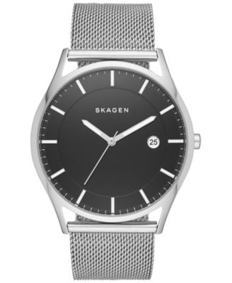 Skagen Men's Slim Holst Stainless Steel Mesh Bracelet Watch 40mm SKW6284