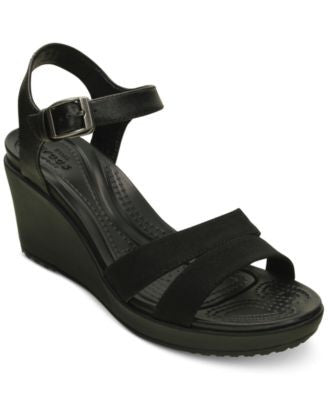 Crocs Women's Leigh II Ankle Strap Wedge Sandals
