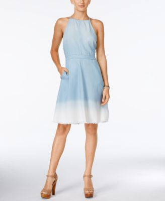 Jessica Simpson Mela Ombré Chambray Dress