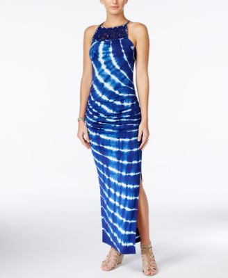 Jessica Simpson Tess Tie-Dyed Halter Maxi Dress