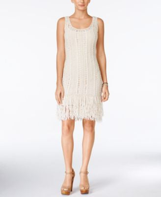 Jessica Simpson Wayne Crochet Fringe Dress