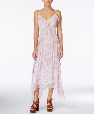 Jessica Simpson Valencia Printed Chiffon Midi Dress