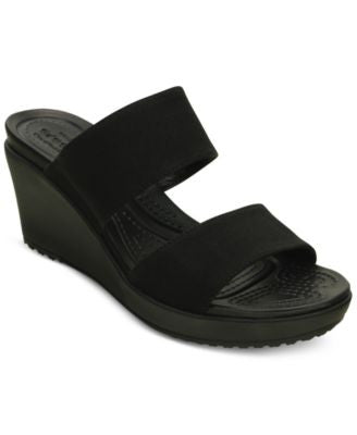 Crocs Women's Leigh II 2-Strap Wedge Sandals