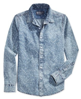 American Rag Men's Graphic Print Shirt, Only at Vogily