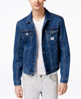 Calvin Klein Jeans Men's Medium-Wash Denim Trucker Jacket