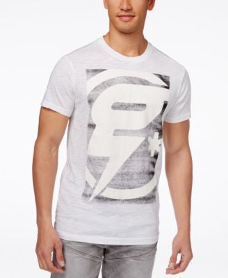 GStar Men's Faux-Mesh Graphic-Print Logo T-Shirt